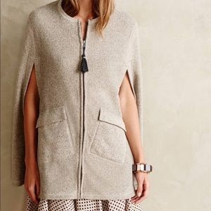 Anthropologie Poncho Cape Satie and Sunday